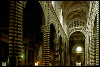 Interior of the Duomo. Siena, Tuscany, Italy