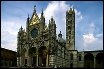 Renaissance style cathedral, afternoon. Siena, Tuscany, Italy ( color)