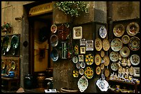 Ceramic plate store. Orvieto, Umbria ( color)