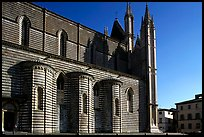 Side view of the Duomo. Orvieto, Umbria ( color)