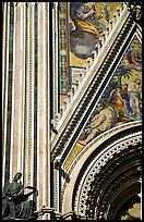Facade detail of the fresco on Duomo. Orvieto, Umbria ( color)