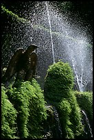 Fountains in the garden of Villa d'Este. Tivoli, Lazio, Italy