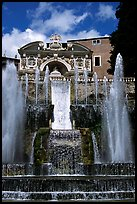Largest fountain in the gardens of Villa d'Este. Tivoli, Lazio, Italy