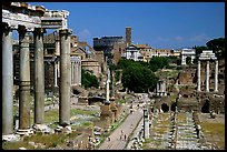 Roman Forum and Colosseum. Rome, Lazio, Italy ( color)