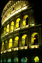 Colosseum illuminated night. Rome, Lazio, Italy (color)