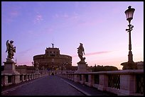Ponte Sant'Angelo and Castel Sant'Angelo, dawn. Vatican City ( color)