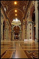 Inside  Basilica San Pietro. Vatican City ( color)