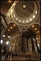 Baldachino, Bernini's baroque canopy stands above St Peter's tomb. Vatican City ( color)