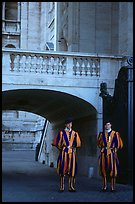 Members of Pontifical Swiss Guard. Vatican City (color)