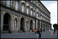Facade of Palazzo Reale (Royal Palace). Naples, Campania, Italy (color)