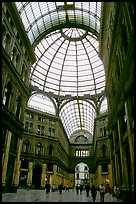 Roof and arcades of Galleria Umberto I. Naples, Campania, Italy