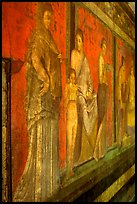 Villa of Mysteries has one of the largest frescoes remaining from the Ancient world. Pompeii, Campania, Italy ( color)