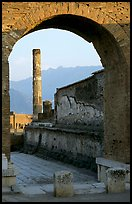 Archway and column. Pompeii, Campania, Italy ( color)