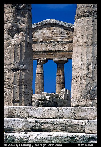 Ruins of Tempio di Cerere (Temple of Ceres). Campania, Italy (color)