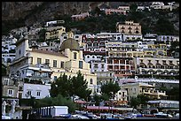 Houses built on steep slopes, Positano. Amalfi Coast, Campania, Italy (color)