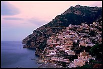 Positano at dawn. Amalfi Coast, Campania, Italy