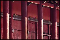 Pilars and bays of main shrine, Jongmyo. Seoul, South Korea ( color)