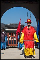 Commander of the Gate Guard (Sumunjang), Gyeongbokgung. Seoul, South Korea