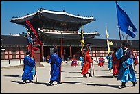 Ceremony of gate guard change, Gyeongbokgung palace. Seoul, South Korea
