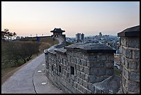 Inside Suwon Hwaseong Fortress wall. South Korea ( color)
