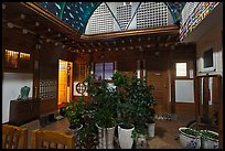 Common space of Hanok-style hostel. Seoul, South Korea ( color)