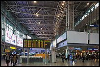Main concourse of Seoul train station. Seoul, South Korea ( color)