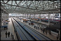 Trains in Seoul station. Seoul, South Korea ( color)