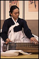 Traditional music performer. South Korea (color)