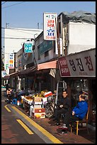 Shopkeepers and storefronts. Daegu, South Korea ( color)