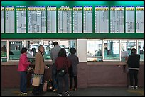 Bus terminal counter. Daegu, South Korea (color)