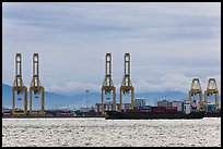 Port and container ship. George Town, Penang, Malaysia (color)