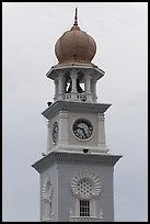 Victoria memorial clock tower. George Town, Penang, Malaysia