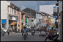Lebuh Chulia Street, Chinatown. George Town, Penang, Malaysia ( color)
