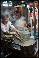 Hawker street foodstall. George Town, Penang, Malaysia (color)