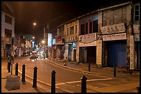 Chinatown street at night. George Town, Penang, Malaysia