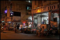 Street food stalls at night. George Town, Penang, Malaysia ( color)