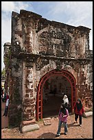Porta de Santiago gate from A Famosa fort. Malacca City, Malaysia ( color)