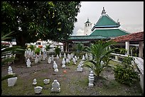 Cemetery and Masjid Kampung Hulu, oldest functioning mosque in Malaysia (1728). Malacca City, Malaysia ( color)