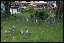 Overgrown Muslim burying grounds. Malacca City, Malaysia (color)