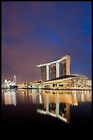 Marina Bay Sands resort at night. Singapore