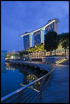Marina Bay Sands resort, twilight. Singapore