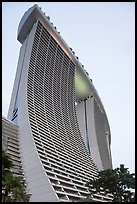 55-storey hotel towers, Marina Bay Sands hotel. Singapore ( color)