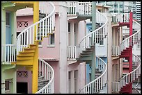 Spiral staircases. Singapore ( color)