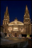 Cathedral by night. Guadalajara, Jalisco, Mexico
