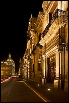 Palacio del Gobernio (government palace) at night. Guadalajara, Jalisco, Mexico (color)