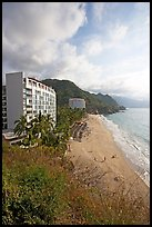 Resort building and beach, Puerto Vallarta, Jalisco. Jalisco, Mexico ( color)