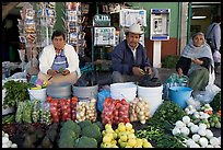 Fruit and vegetable vendors on the street. Guanajuato, Mexico