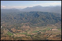 Aerial view of plain, foothills and Sierra de Madre. Mexico ( color)
