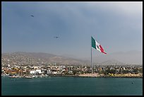Ensenada seen from harbor. Baja California, Mexico (color)