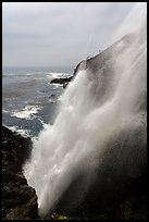 Tidewater blowhole, La Bufadora. Baja California, Mexico (color)